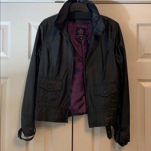 Isaac Mizrahi Live Leather Jacket EUC
